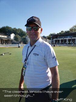 Jeff King, caddie to Bo van Pelt